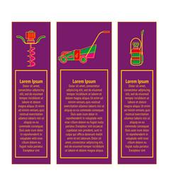 badges of gardening power tools vector image