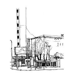 sketch of city street vector image