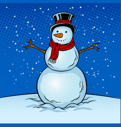 snowman pop art vector image