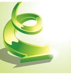Green arrow vector image vector image