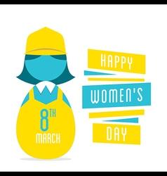 happy womens day women profession design vector image