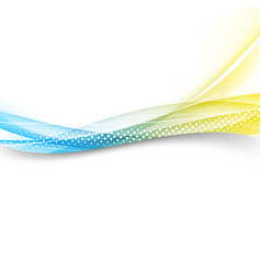 modern bright swoosh line border layout vector image