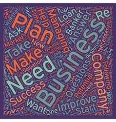 Reasons Why You Need A Business Plan text vector image vector image