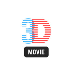simple 3d striped icon vector image vector image