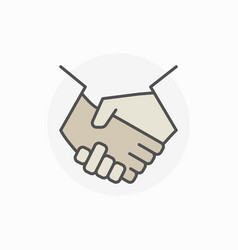 colorful business handshake icon vector image vector image