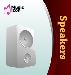 music speaker icon vector image