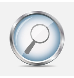 Search Glossy Icon vector image