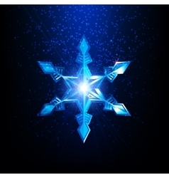 Snowflake Christmas and Happy New Year design vector image