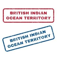 British indian ocean territory rubber stamps vector