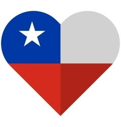 Chile flat heart flag vector image vector image