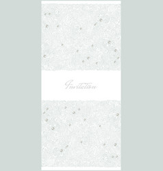 floral vertical invitation card vector image vector image