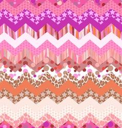 pink zigzag seamless vector image vector image