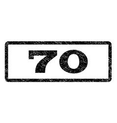 70 watermark stamp vector image
