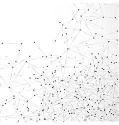 Abstract atom or molecular grid complex digital vector