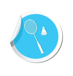 Badminton BLUE LABEL vector