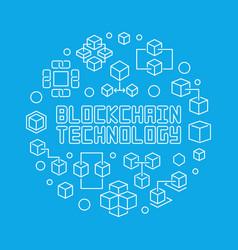 blockchain technology blue circular line vector image