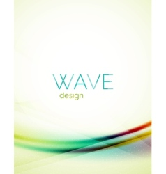Blue and green flowing color design wave vector