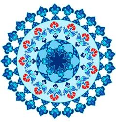 blue ottoman serial patterns fifteen vector image