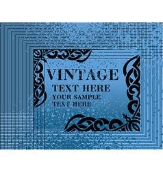 Blue Vintage Medieval Frame vector