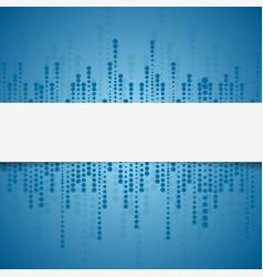 Bright tech geometric blue circles background vector