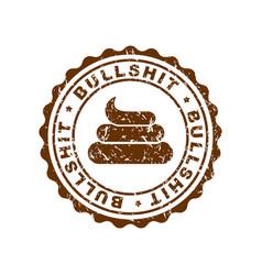 bullshit stamp for documents official boss answer vector image