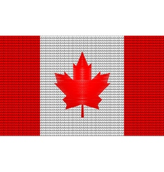 Canada flag embroidery design pattern vector image