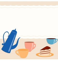 Card with tea related elements vector image
