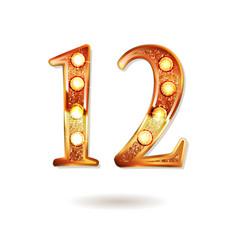 celebrating of 12 years anniversary vector image