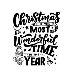christmas inspirational quote typography for vector image