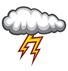 Cloud lighting icon vector