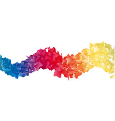 Color abstract shape vector