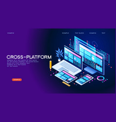 cross-platform concept banner vector image