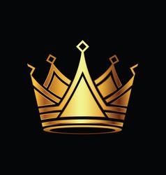 Crown modern golden logo vector