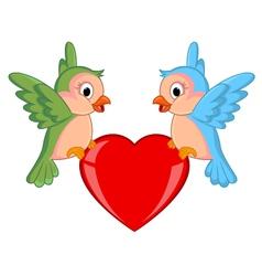 Cute Bird with love Cartoon vector image