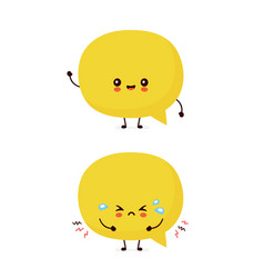 Cute smiling happy speech bubble vector