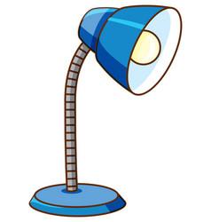 Desk lamp in blue color on white background vector