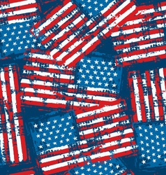 Distressed grunge American flag seamless pattern vector