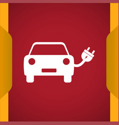 Eco car icon for web and mobile vector