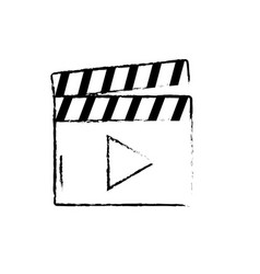 Figure clapperboard with video movie studio icon vector