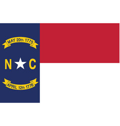 Flag of the usa state of north carolina vector