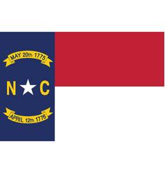 flag of the usa state of north carolina vector image