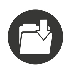 folder data document icon vector image