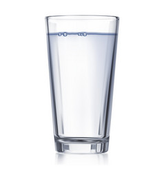glass with water isolated realistic 3d vector image