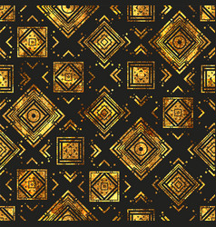 Gold vintage geometric pattern vector