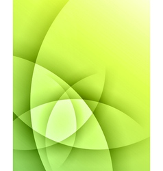 Green smooth light lines background vector