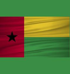 guinea bissau flag flag of guinea bissau blowig vector image