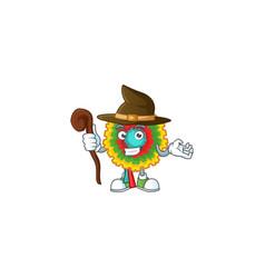 Happy halloween witch pinata cartoon character vector
