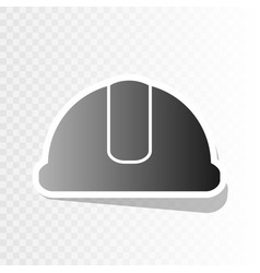 hardhat sign new year blackish icon on vector image