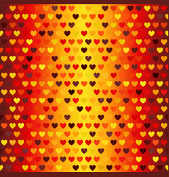 Heart pattern seamless glowing background in vector