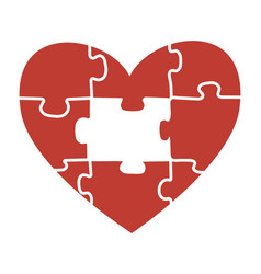 heart puzzle a heart for vector image